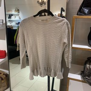 Burberry Cream Cashmere Top